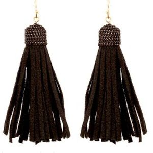 Bohemian Leather Tassle Earrings